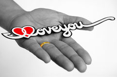 Liefde en Geloof Stock Foto