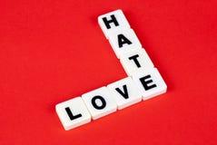 Liefde en haat Royalty-vrije Stock Foto