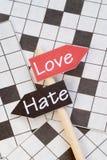 Liefde en Haat Stock Afbeeldingen