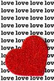 Liefde en Hart royalty-vrije stock fotografie
