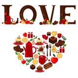 Liefde en hart Stock Afbeeldingen