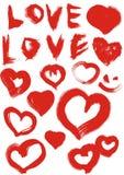 Liefde en hart Royalty-vrije Stock Foto's