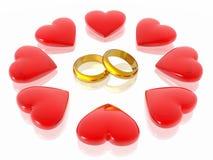 Liefde en harten Royalty-vrije Stock Afbeeldingen