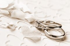 Liefde en huwelijk Stock Foto's
