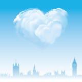Liefde en huwelijk in Londen stock illustratie