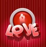 Liefde en kus Royalty-vrije Stock Afbeelding
