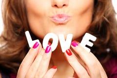 Liefde en kussen Royalty-vrije Stock Foto's