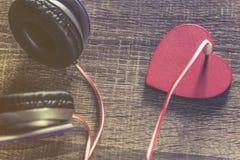 Liefde en muziekconcept royalty-vrije stock foto