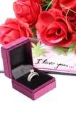 Liefde en ring Royalty-vrije Stock Afbeelding