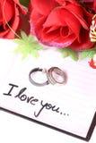 Liefde en ringen Royalty-vrije Stock Foto's