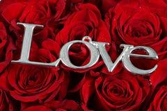 Liefde en rozen Stock Foto's