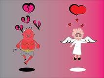 Liefde en scheiding Stock Afbeelding