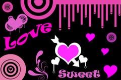 Liefde en snoepje Stock Foto