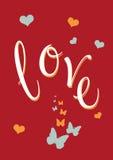 Liefde en vlinders royalty-vrije illustratie