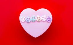 Liefde en vrede royalty-vrije stock foto's