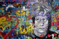Liefde en vrede met John Lennon stock foto