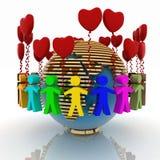 liefde en vriendschap Stock Afbeeldingen