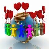 Liefde en vriendschap Royalty-vrije Stock Foto's