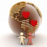 Liefde en vriendschap Stock Foto's