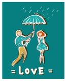 Liefde en zorg vector illustratie
