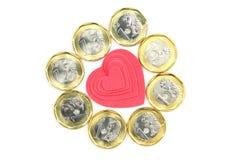 Liefde of Geld Stock Afbeelding