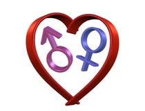 Liefde, geslacht, hart Stock Fotografie