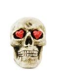 Liefde Halloween met enge schedel Stock Afbeelding