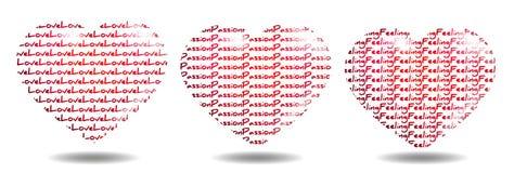 Liefde, Hartstocht en het Voelen stock illustratie