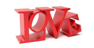 Liefde - het 3D Teruggeven Stock Afbeelding