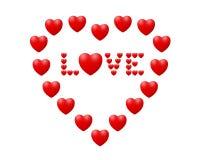 Liefde in het hart Stock Afbeelding