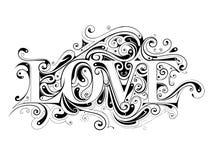 Liefde het van letters voorzien Stock Foto
