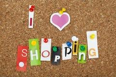 Liefde het Winkelen Royalty-vrije Stock Afbeeldingen