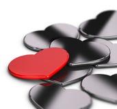 Liefde of huwelijksuitnodigingskaart Stock Fotografie