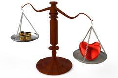 Liefde meer dan geld Stock Fotografie