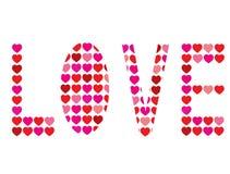 Liefde met harten Stock Afbeeldingen