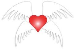 Liefde met vleugels Royalty-vrije Stock Foto's