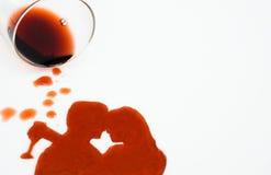 Liefde met wijn Stock Foto's