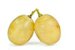 Liefde met witte druiven Royalty-vrije Stock Afbeeldingen