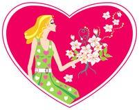 Liefde in mijn hart stock illustratie