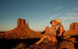 Liefde in monumentenvallei Royalty-vrije Stock Foto