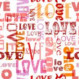 Liefde naadloos patroon, Royalty-vrije Stock Foto