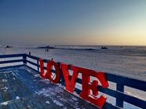 Liefde op Baikal Stock Afbeelding
