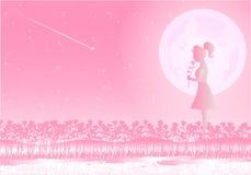 Liefde op de Dag van Valentine ` s Achtergrondillustrator Royalty-vrije Stock Afbeelding