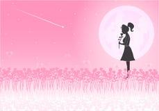 Liefde op de Dag van Valentine ` s Achtergrondillustrator Stock Fotografie