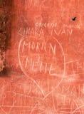Liefde op de Muur Stock Afbeeldingen
