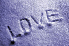Liefde op de sneeuw Royalty-vrije Stock Afbeeldingen
