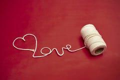 Liefde op de spoel Royalty-vrije Stock Foto