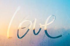 Liefde op glas Stock Foto