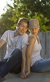 In Liefde op het Strand Stock Afbeelding