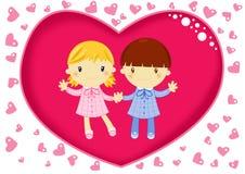 Liefde op school Stock Fotografie